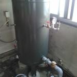 筑西市 (有)T様 井戸ポンプ用圧力タンク+砂こし器取付け